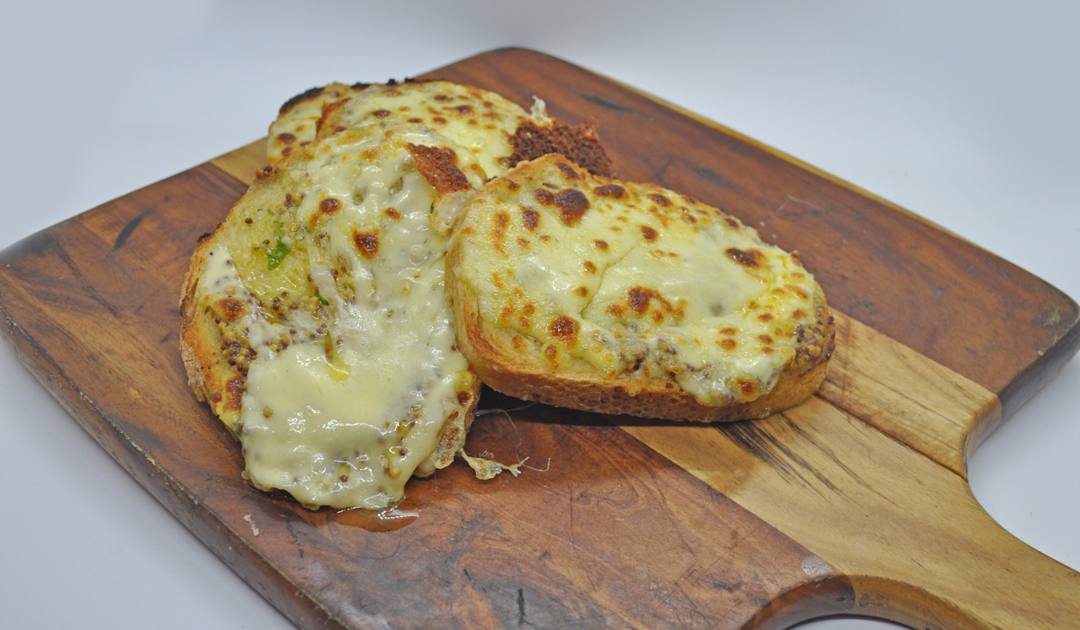 Garlic Bread with Mustard Seed